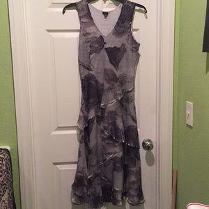 Komarov Pleated Tiered Long Dress M